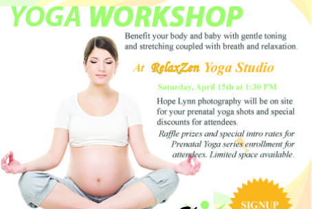 Complimentary Prenatal Yoga Workshop